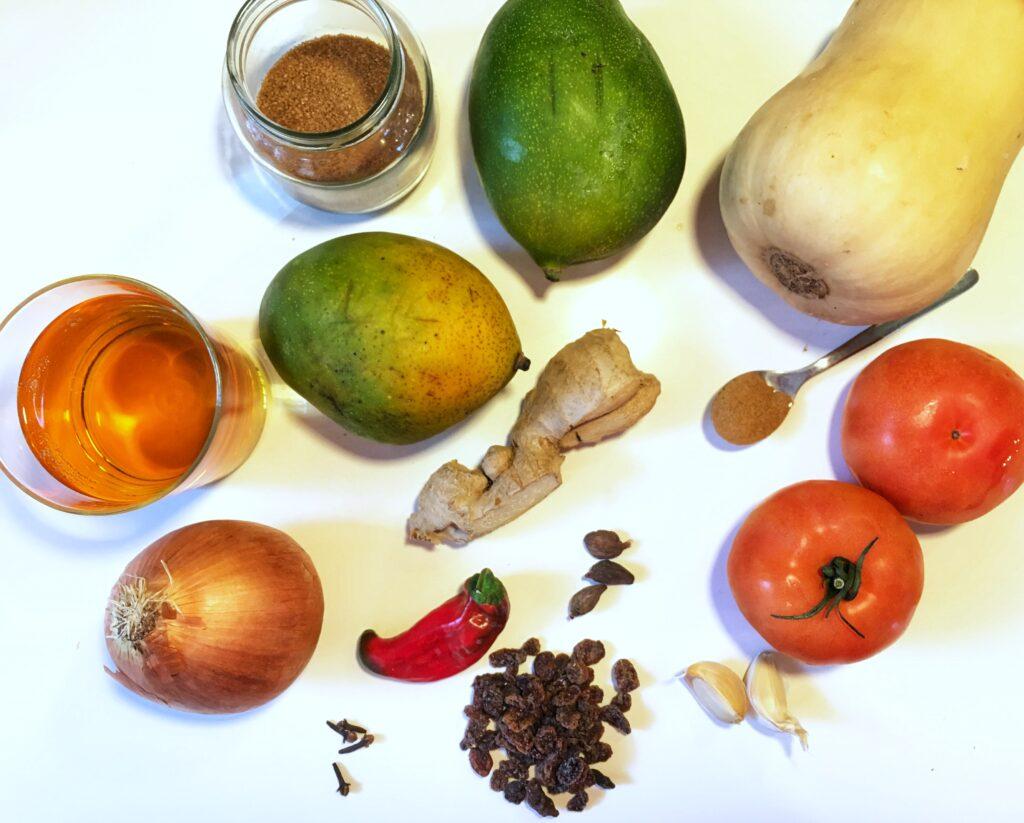 chutney de mango y calabaza